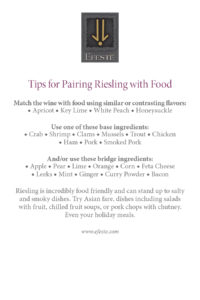 Efeste: Food Pairing with Riesling