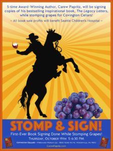 First Ever: Book Signing While Stomping Grapes